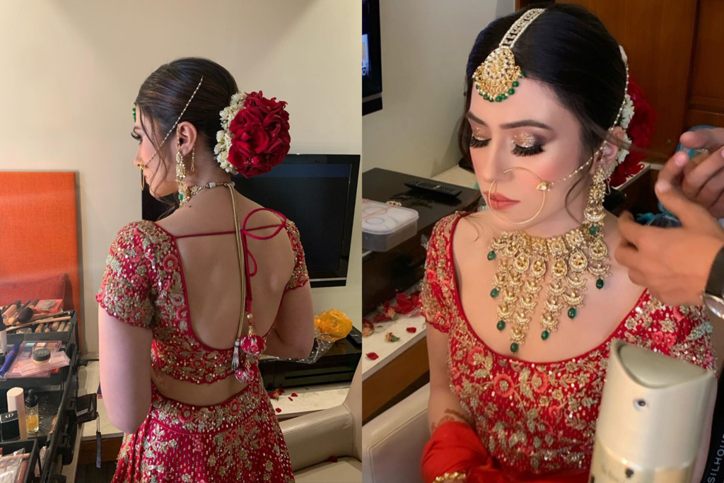 Bridal hairstyle photoshoot